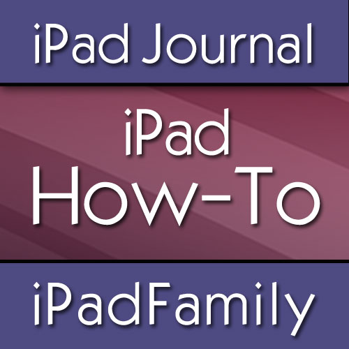 iPad How-to