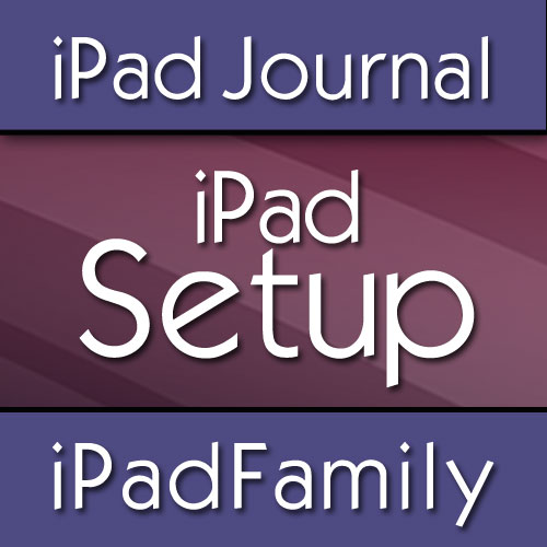 how to set up new ipad with family sharing