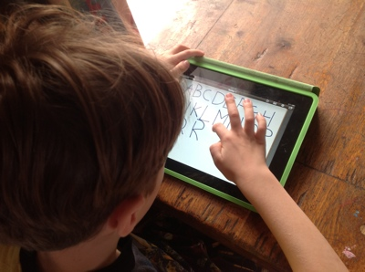 iPad Education - Learning letters on iPad