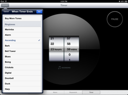 Countdown Timer in Clock App for iPad
