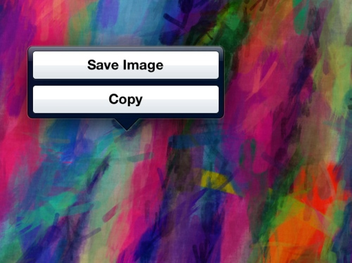 Saving an image from the web onto your iPad