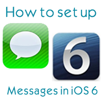 How To Setup Messages on iPad